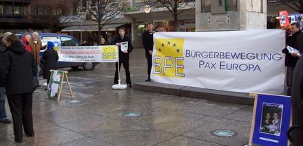 BPE-Mahnwache in Mainz